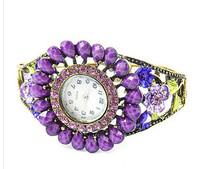 10pc/lot  Mulan'S Trendy Bohemian Bracelet Fashion Alloy Ladies Jewelry Watch Rhinestone wristwatches ,FREE SHIPPING