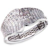 CZ Cubic Zirconia Bangle Big Elegance Rectangle Latest Design 2014 Wedding Luxury Deluxe Top AAA Quality Setting Chunk - VC Mart