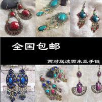 National trend earrings accessories drop earring tassel royal fashion vintage bohemia long design