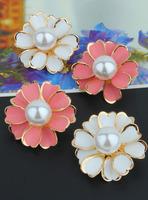 Super large crystal flower stud earring pearl earrings fashion rhinestone earring fashion female accessories
