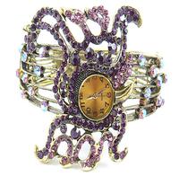 10pcs/lot Fashion Crystal Ladies Bohemian Watch Retro Vintage octopus Bracelet Wristwatch