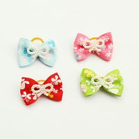 dreambows Handmade Pet Grooming Imitation Pearl Pattern Ribbon Dogs Bow #db2003 Wholesale 100 Pcs / Lot