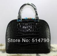 Famous Designer Elegance Women's Crocodile/Alligator Real Genuine Cow Leather Alma MM Style Tote Bag/Shell Handbags,free ship