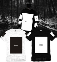 Drop Shipping Hot New Summer Fashion Lovers hood by air hba big box Clot Cotton Short-sleeve T-shirts Hip Hop Streetwear Tees