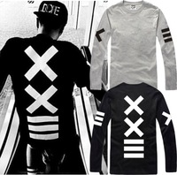 Drop Shipping New Summer 2014 Fashion Male Women long-sleeve T-shirts xxlll hiphop street pyrex 23 shote hba Sweatshirts Cotton