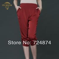Pure Silk 2014 New Fashion pants High quality mulberry silk plus size legging silk harem pants 525