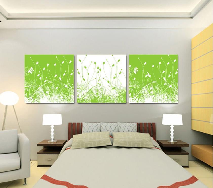 Natural Green Flower Green Modern Flower Wall