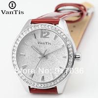 2014 women's genuine leather ladies quartz watch the trend of fashion strap watch waterproof