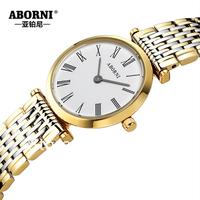2014  brand ultra-thin form of quartz women's watch waterproof lovers watch