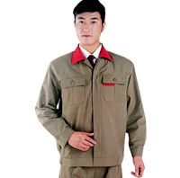 [10sets-FREE SHIP] 506 spring and autumn long-sleeve work wear set male workwear protective clothing food  for worker wholesale