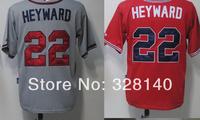 No.22 Jason Heyward Red White Black Jersey Braves Outfielders#22 Jason Heyward Red White Black Grey Cool Base Baseball Jersey