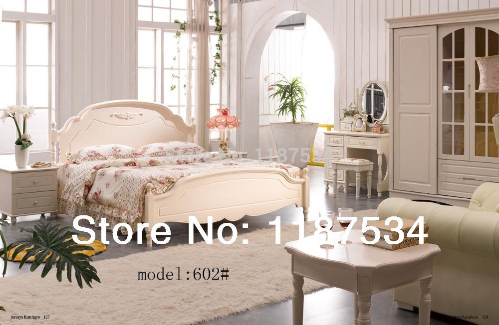 Modern home furniture bedroom set bed wardrobe nightstand dresser table dresser stool bedroom furniture set(China (Mainland))
