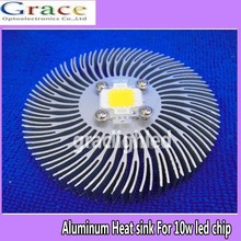 1pcs 90mm*10mm Round Spiral Aluminum Heat sink for 10W Watt High Power LED Lamp(China (Mainland))