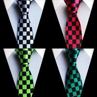 5 cm width slim slender tie fashion designers necktie plaids grids checks