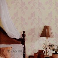 N3-6 background wallpaper pink flock printing wallpaper