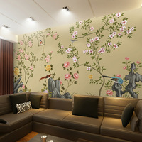 Chinese style wallpaper mural landsides hd living room tv wall