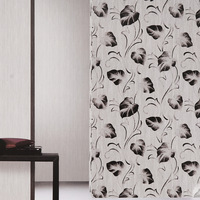 Non-woven wallpaper cylinder stereo tv background wall embossed wallpaper