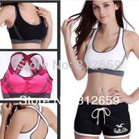 Free shipping 100% cotton ladies underwear sports bra fashion women seamless wire free brassiere for yoga sport undergarment