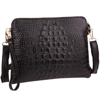 Новинка женщины сумка из натуральной кожи плеча crossbody сумка из крокодиловой сумки женщины клатч сумка кошелек женщины кошельки