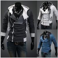 HOT!   2014 new styles Men's Autumn and winter cardigan Korean men's Hoodie Jacket & jacket baseball SIZE:M-XXL
