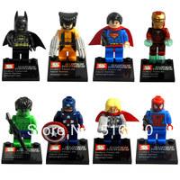 Wholesale SY180 Super Heroes The Avengers Iron Man Hulk Batman Wolverine Thor Building Blocks Sets Minifigure Bricks Toys