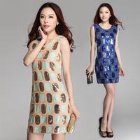 new 2015 fashion woman brand high quality embroidery women dress,women dress, women clothing,dresses new fashion 2015