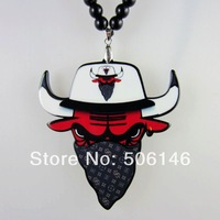 Accessories pendant Masked  bull acrylic necklace 10pcs ,mix order .free shipping