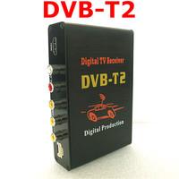 Hot Digital DVB T2 Car TV Receiver HDMI 1080P CVBS DVB-T2  Support H.264 MPEG4 Europe Russia Thai Market ,Free Shipping