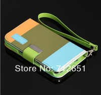 NEW  flip leather case mobile pouch for samsung i9300 galaxy s3  S4  phone bags Accept mix-color order free shipping.
