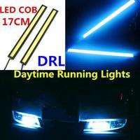 2pcs High Power 17cm COB Car Styling LED Driving Daytime Running Light LED Car DRL Fog lamp Working Light 6W 8000K