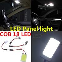 2pcs Super White 5W 18 Led w5w T10 COB Chip LED SMD Car Interior Light Festoon Dome Adapter 12V, Car LED Panel lights Wholesale