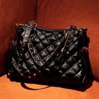 Women Promotion New Arrival Solid Bag Small(20-30cm) Zipper Rivet Messenger Bags Handbag E Pu Leather Handbags 2014 Purses And