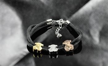 Новый 2014 серебряный медведь браслет медвежонок браслеты t117 браслеты регулируемая