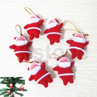 alex  5pcs Cute Xmas Decor Santa Claus Ornament Hanging Christmas Decoration Toys