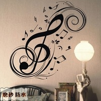 Musical notes wall stickers decoration wall stickers tv background wall ofhead m324