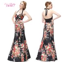 2014 Betty fashion full print dress sexy halter-neck slim evening dress dinner installed dress