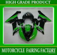Hot Green black motocycle fairing for Kawasaki Ninja ZX6R 2005 2006 ZX 6R 06 zx6r 06 fairings RX7m
