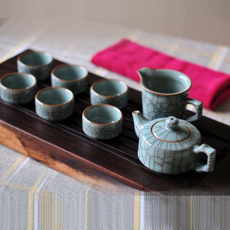 Ceramic longquan celadon tea set teapot cup set gift box set