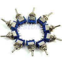 5pcs 3-Pin SPDT ON-ON Mini Toggle Switch 6A 125VAC Mini Switches