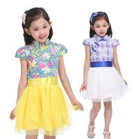 New Arrival 2014 Spring/Summer girls casual princess dresses  frozen kids dresses children's clothing
