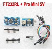 2ets/lot FT232RL Module + Pro Mini 5V  for Arduino FZ0285+FZ0104