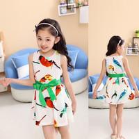 New Arrival 2014 Spring/Summer Children's Clothing Girls Casual Princess Dresses Frozen Kids Dresses