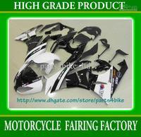 White black motocard fairing kit for Kawasaki Ninja ZX 6R 2009 2010 2011 ZX6R 09 10 11 Fairings RX2b
