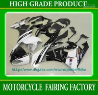 White black motocard fairing kit for Kawasaki Ninja ZX 6R 2009 2010 2011 ZX6R 09 10 11 Fairings RX2b