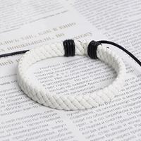 Lo yin Bracelet cowhide rope handmade knitted male bracelet women's bracelet 1337