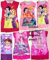 C01 2013 New Baby Gilrs Pajamas/Baby Cartoon Summer Pyjamas Children Nightgown/Kids Sleepwears Night Dress NO-02