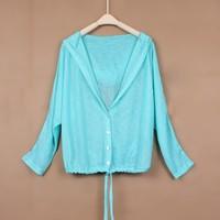 Long-sleeve 2014 thin cardigan sun protection clothing female long-sleeve thin outerwear sun protection clothing anti-uv jacket