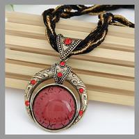 New 2014 Vintage Women Men Jewelry Bohemia Alloy Crystal Elastic Statement Necklaces & Pendant !