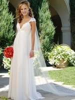 2015 Graceful White V-Neck Backless Beach Wedding Dresses with Lacing Straps Style Blush Train ZY013