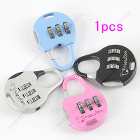 Mini Cute 3 Digit Combination Travel Luggage Suitcase Lock Padlock Security 15B/Free Shipping
